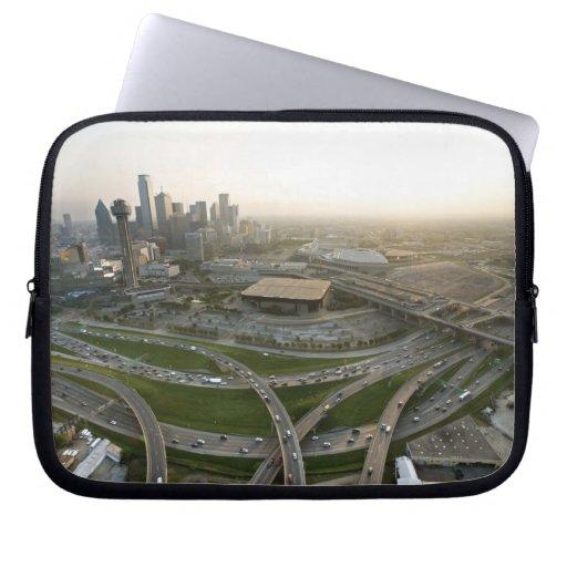 Vista aérea de Dallas céntrica, Tejas Mangas Portátiles