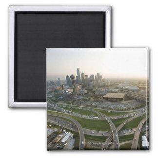 Vista aérea de Dallas céntrica, Tejas Imán Cuadrado