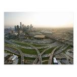 Vista aérea de Dallas céntrica, Tejas Postal
