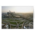 Vista aérea de Dallas céntrica, Tejas Tarjetón