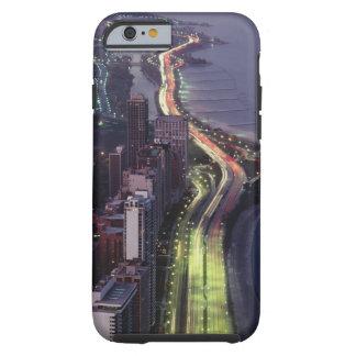 Vista aérea de edificios a lo largo de una funda resistente iPhone 6