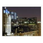Vista aérea de edificios en el lazo de Chicago en Postal