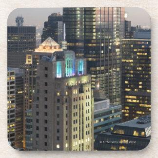 Vista aérea de edificios en el lazo de Chicago Posavasos