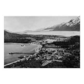 Vista aérea de Haines, ubicación de Alaska de Póster