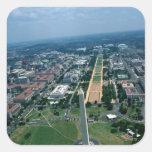 Vista aérea de la alameda nacional pegatinas cuadradases personalizadas