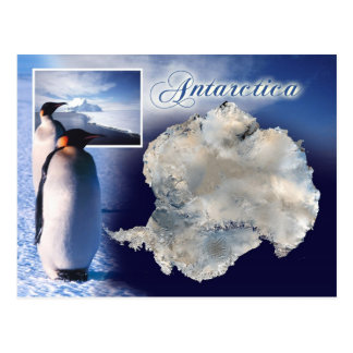 Vista aérea de la Antártida Postal