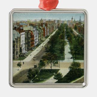 Vista aérea de la avenida de la Commonwealth Ornamentos De Navidad