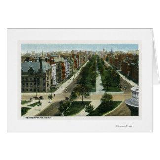 Vista aérea de la avenida de la Commonwealth Tarjeta