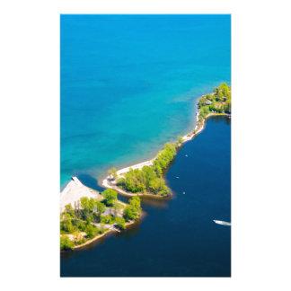 Vista aérea de la bahía y del lago Ontario de Papeleria De Diseño