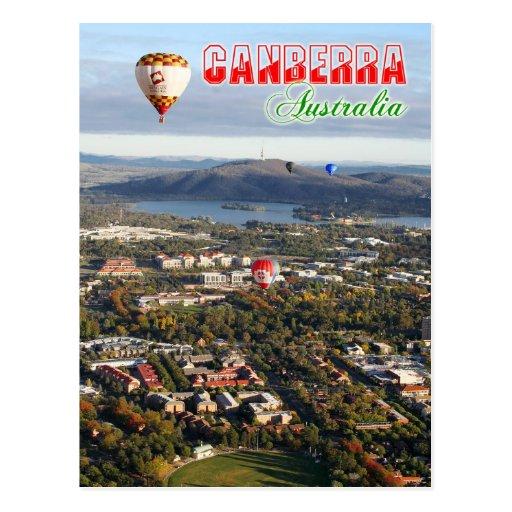 Vista aérea de la capital de Canberra - de Austral Tarjetas Postales