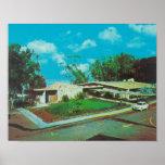 Vista aérea de la casa de campo de oro del centro  impresiones