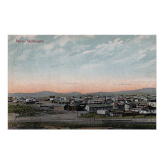 Vista aérea de la ciudad 13 póster