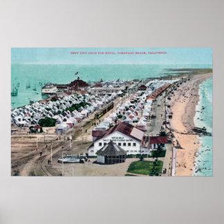 Vista aérea de la ciudad de la tienda del del Coro Póster