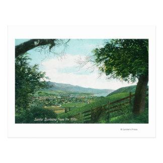 Vista aérea de la ciudad de las colinas tarjetas postales