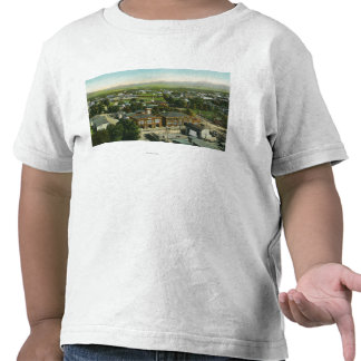 Vista aérea de la ciudad del parque de bomberos y camiseta