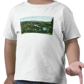 Vista aérea de la ciudad en el río del St. Joe Camisetas