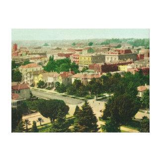 Vista aérea de la ciudad impresión en lona