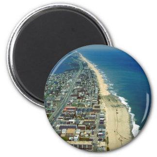 Vista aérea de la ciudad Maryland del océano Imán Redondo 5 Cm