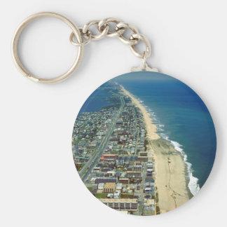 Vista aérea de la ciudad Maryland del océano Llavero Redondo Tipo Pin