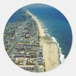 Vista aérea de la ciudad Maryland del océano Pegatina
