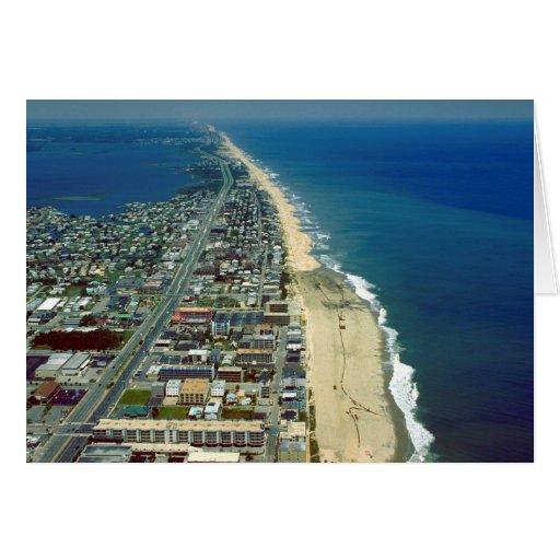 Vista aérea de la ciudad Maryland del océano Tarjetas