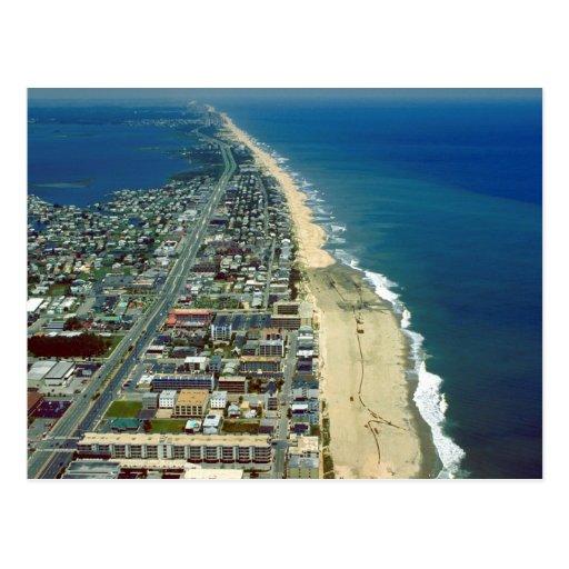 Vista aérea de la ciudad Maryland del océano Tarjetas Postales
