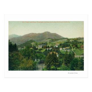 Vista aérea de la ciudad, Mt Tamalpais Tarjetas Postales