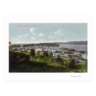 Vista aérea de la ciudad y de la bahía de los Coos Tarjetas Postales