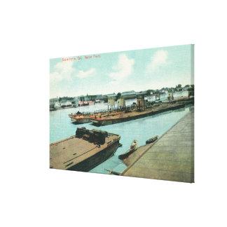 Vista aérea de la costa 3 impresiones de lienzo