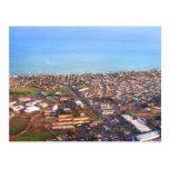Vista aérea de la costa costa de Honolulu, Oahu, H Tarjeta Postal
