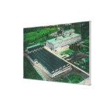Vista aérea de la fabricación del Goodyear-Zepelín Impresion De Lienzo