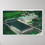 Vista aérea de la fabricación del Goodyear-Zepelín Póster