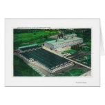 Vista aérea de la fabricación del Goodyear-Zepelín Tarjeta De Felicitación