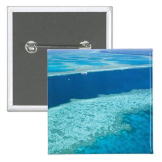 Vista aérea de la gran barrera de coral por pin cuadrado