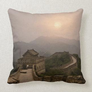 Vista aérea de la Gran Muralla de China Cojín