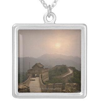 Vista aérea de la Gran Muralla de China Colgante Cuadrado
