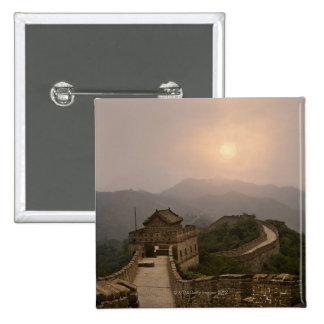 Vista aérea de la Gran Muralla de China Pin Cuadrado