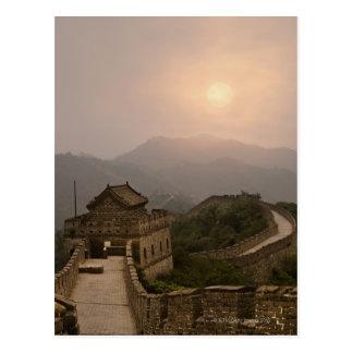 Vista aérea de la Gran Muralla de China Tarjetas Postales