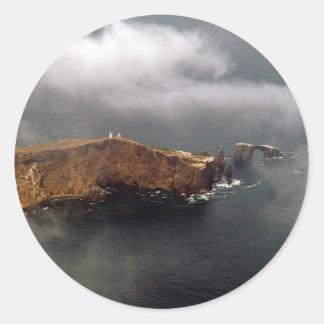 Vista aérea de la isla de Anacapa Pegatina Redonda