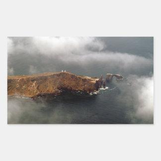 Vista aérea de la isla de Anacapa Rectangular Pegatina
