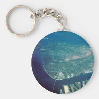 Vista aérea de la isla del pelícano llavero