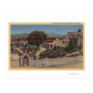 Vista aérea de la misión entera tarjeta postal