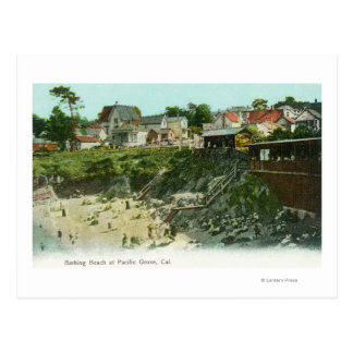 Vista aérea de la playa de baño tarjetas postales