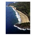 Vista aérea de la playa de Hanalei - Kauai Postal