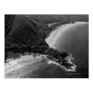 Vista aérea de la playa de Makena, Maui, Hawaii Tarjetas Postales