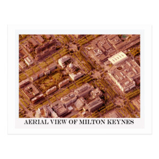 Vista aérea de la postal de la sepia de Milton Key