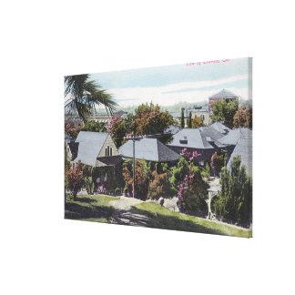 Vista aérea de la residencia SectionOroville, CA Impresiones En Lona Estiradas