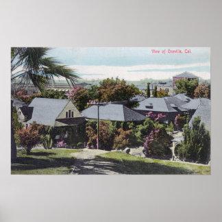Vista aérea de la residencia SectionOroville, CA Poster
