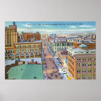 Vista aérea de la sección del negocio de la ciudad posters