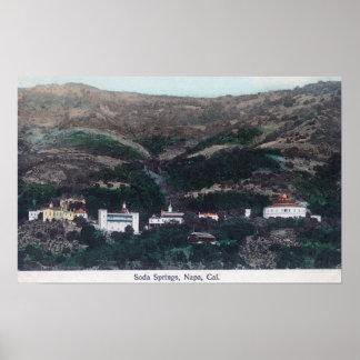 Vista aérea de la soda SpringsNapa, CA Posters